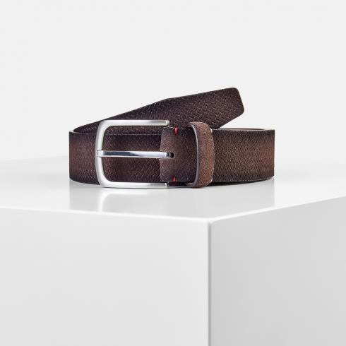 Riem FRED met gaatjesembossing DARK BROWN | 100